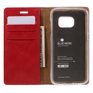 Bluemoon PU kožené puzdro pre mobil Samsung Galaxy S7 - červené - 6