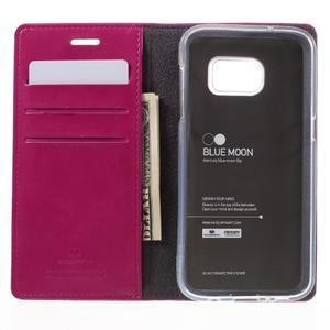 Bluemoon PU kožené pouzdro na mobil Samsung Galaxy S7 - rose - 6