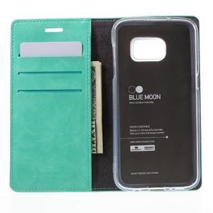 Bluemoon PU kožené puzdro pre mobil Samsung Galaxy S7 - cyan - 6