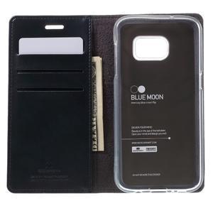 Bluemoon PU kožené puzdro pre mobil Samsung Galaxy S7 - tmavomodré - 6