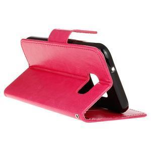 Stand peňaženkové puzdro pre Samsung Galaxy S7 - rose - 6