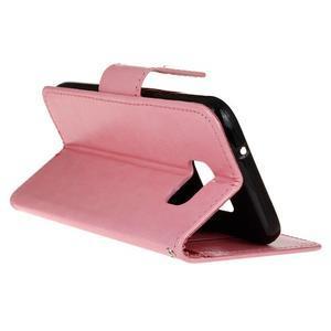 Stand peněženkové pouzdro na Samsung Galaxy S7 - růžové - 6