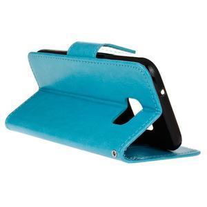 Stand peňaženkové puzdro pre Samsung Galaxy S7 - modré - 6