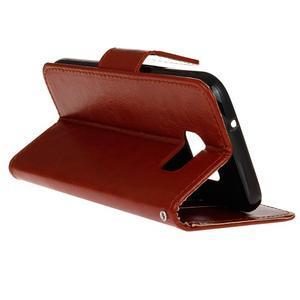 Stand peňaženkové puzdro pre Samsung Galaxy S7 - hnedé - 6