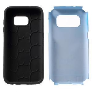 Dvojdielny odolný kryt pre Samsung Galaxy S7 - modrý - 6