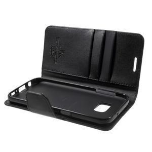 Sonata PU kožené pouzdro na Samsung Galaxy S7 - černé - 6