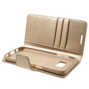 Sonata PU kožené pouzdro na Samsung Galaxy S7 - zlaté - 6