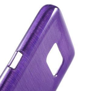 Brush gélový obal pre mobil Samsung Galaxy S7 - fialový - 6