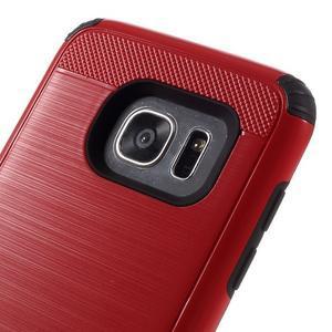 Odolný dvoudílný obal na Samsung Galaxy S7 edge - červený - 6