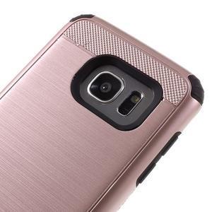 Odolný dvoudílný obal na Samsung Galaxy S7 edge - zlatorůžový - 6
