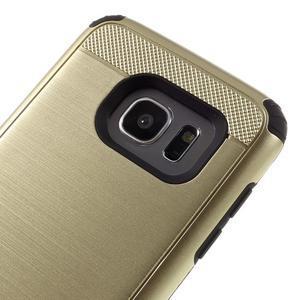 Odolný dvoudílný obal na Samsung Galaxy S7 edge - zlatý - 6