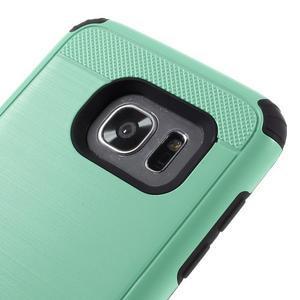 Odolný dvoudílný obal na Samsung Galaxy S7 edge - azurový - 6