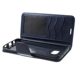 Rich PU kožené puzdro pre Samsung Galaxy S7 edge - tmavomodré - 6