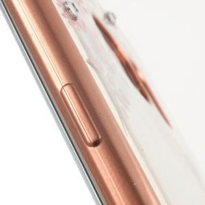 Nice gélový obal s kamienkami pre Samsung Galaxy S7 edge - ružové kvety - 6