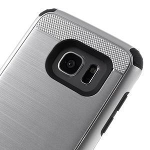 Odolný dvoudílný obal na Samsung Galaxy S7 edge - stříbrný - 6