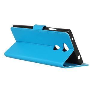 Litchi PU kožené púzdro na Sony Xperia L2 - modré - 6