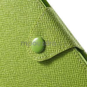 Zelené PU kožené Peňaženkové puzdro pre Sony Xperia M4 Aqua - 6