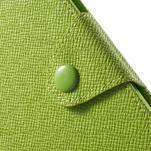 Zelené PU kožené Peňaženkové puzdro pre Sony Xperia M4 Aqua - 6/7
