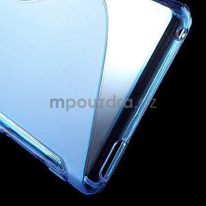 Modrý s-line pružný obal pre Sony Xperia M4 Aqua - 6