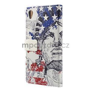 Peněženkové pouzdro na Sony Xperia M4 Aqua - Socha Svobody - 6