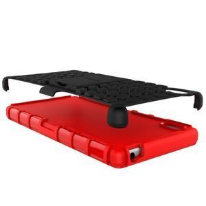 Outdoor odolný obal na Sony Xperia Z5 - červený - 6