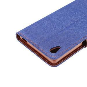 Jeans Peňaženkové puzdro Sony Xperia Z5 - tmavomodré - 6