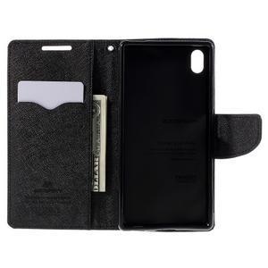 Mercur peněženkové pouzdro na Sony Xperia Z5 - černé - 6