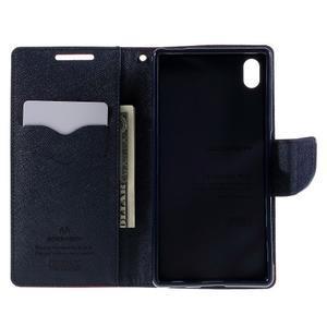 Mercur peněženkové pouzdro na Sony Xperia Z5 - červené - 6