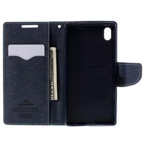 Mercur peněženkové pouzdro na Sony Xperia Z5 - cyan - 6