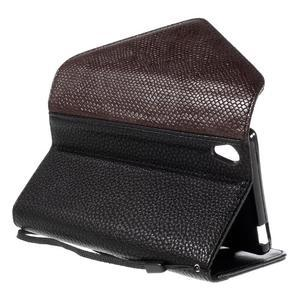 Štýlové Peňaženkové puzdro Sony Xperia Z5 - hnedé/čierne - 6