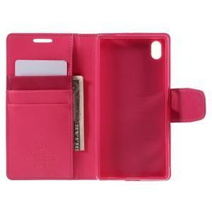 Sonata PU kožené peněženkové pouzdro na Sony Xperia Z5 - rose - 6