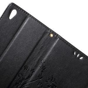 Butterfly PU kožené pouzdro na Sony Xperia Z5 - černé - 6