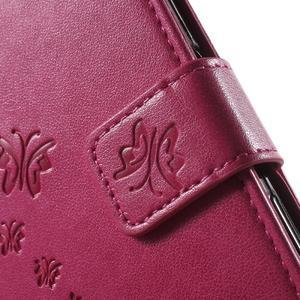 Butterfly PU kožené pouzdro na Sony Xperia Z5 - rose - 6