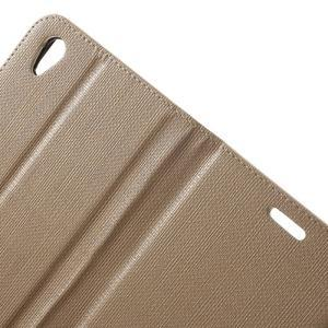 Grid PU kožené pouzdro na Sony Xperia Z5 - champagne - 6
