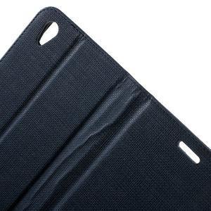 Grid PU kožené pouzdro na Sony Xperia Z5 - tmavěmodré - 6