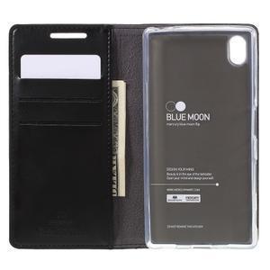 Moon PU kožené puzdro pre Sony Xperia Z5 - čierne - 6
