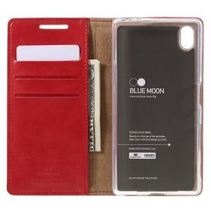 Moon PU kožené pouzdro na Sony Xperia Z5 - červené - 6