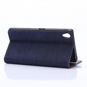 Štýlové jeans puzdro pre mobil Sony Xperia Z5 - tmavomodré - 6