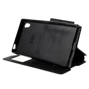 Diary puzdro s okienkom na Sony Xperia Z5 - čierne - 6