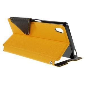 Diary puzdro s okienkom na Sony Xperia Z5 - žlté - 6