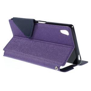 Diary puzdro s okienkom na Sony Xperia Z5 - fialové - 6