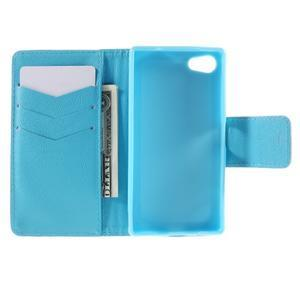Diary peněženkové pouzdro na Sony Xperia Z5 Compact - vodní květ - 6