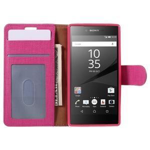 Grid Peňaženkové puzdro pre mobil Sony Xperia Z5 Compact - rose - 6