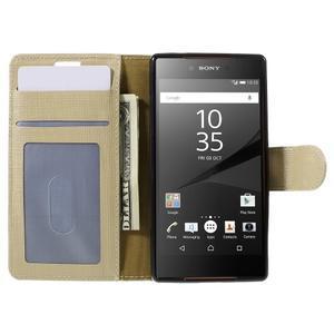 Grid Peňaženkové puzdro pre mobil Sony Xperia Z5 Compact - champagne - 6