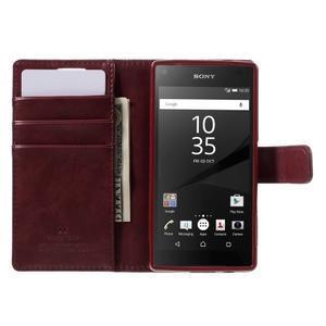 Bluemoon PU kožené puzdro pre Sony Xperia Z5 Compact - tmavočervené - 6