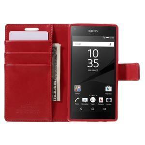 Bluemoon PU kožené puzdro pre Sony Xperia Z5 Compact - červené - 6