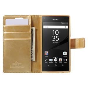Bluemoon PU kožené puzdro pre Sony Xperia Z5 Compact - zlaté - 6