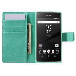 Bluemoon PU kožené puzdro pre Sony Xperia Z5 Compact - cyan - 6