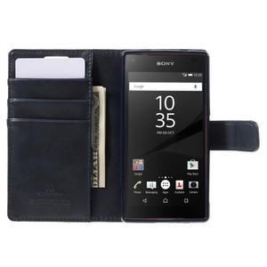 Bluemoon PU kožené pouzdro na Sony Xperia Z5 Compact - tmavěmodré - 6