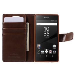 Bluemoon PU kožené puzdro pre Sony Xperia Z5 Compact - hnedé - 6